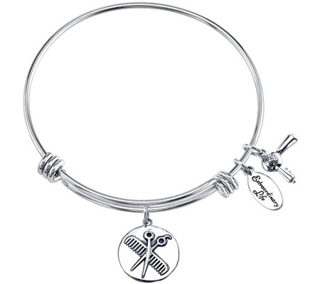 "Extraordinary Life Sterling ""Love is in theHair"" Bangle"