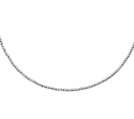 "Sterling Silver Beaded 16"" Necklace b y SilverStyle"