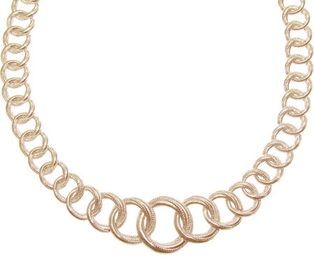 "Judith Ripka 14K Rose Gold-Clad Textured 18"" Necklace"