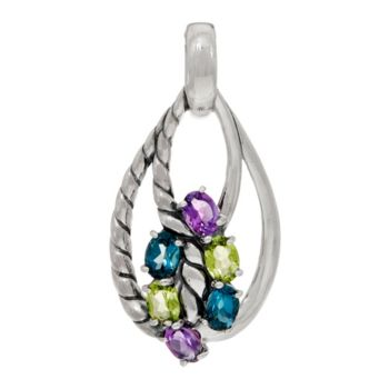 Carolyn Pollack Sterling Silver Gemstone Enhancer 4.30cttw