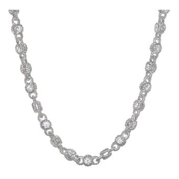 Judith Ripka Sterling Silver & Diamonique Rolling 20 Necklace
