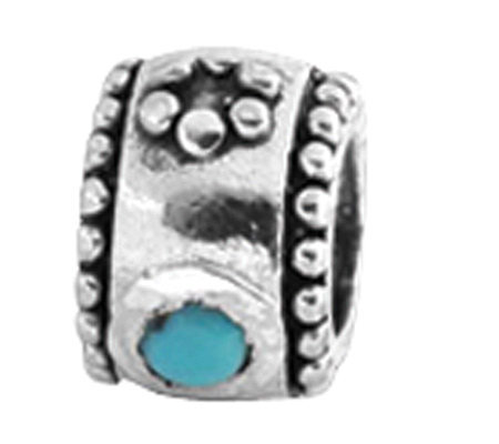 Prerogatives Sterling Turquoise Cubic ZirconiaBead