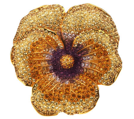 Joan Rivers Elegance in Bloom Pave' Pansy Pin