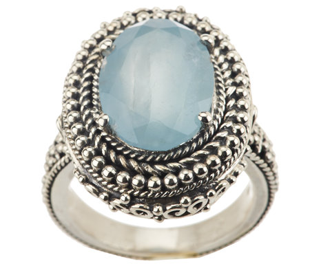 Artisan Crafted Limited Edition 5.00 ct Milky Aqua Sterling Ring