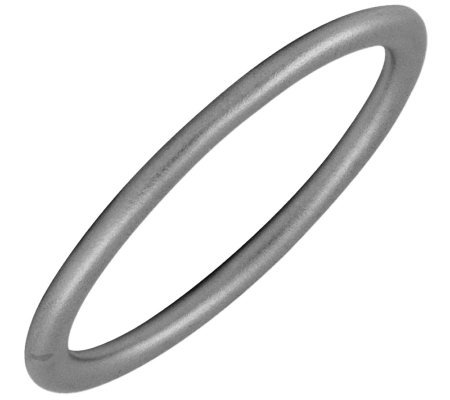 Simply Stacks Sterling Black Rhodium-Plated 2.25mm Satin Ring