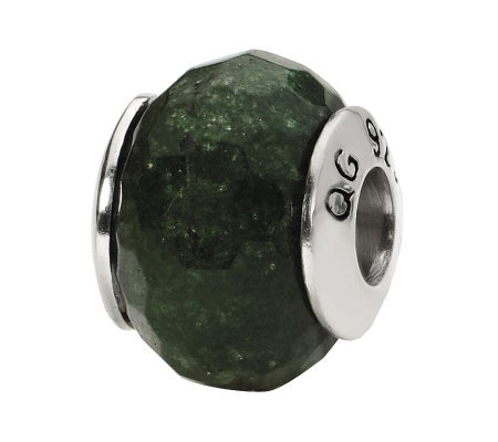 Prerogatives Sterling Dark Green Quartz Gemstone Bead