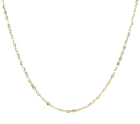 "Milor 20"" Fine Hammered Oval Link Chain, 14K Go ld"
