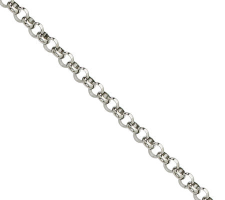 "Stainless Steel 4.6mm 18"" Rolo Chain Necklace"