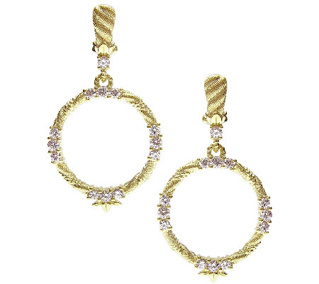 Judith Ripka Sterling & 14K-Clad 1.60cttw Diamonique Earrings