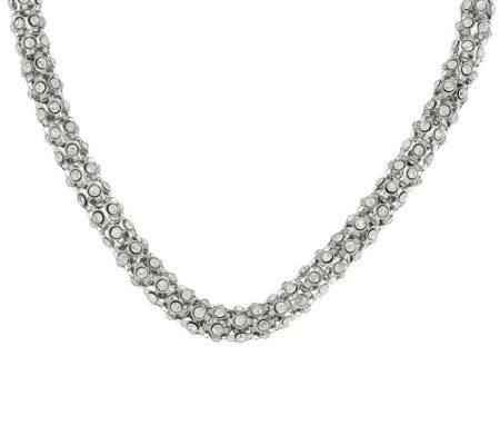 Steel by Design Bezel Set Crystal Popcorn Necklace