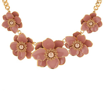 Joan Rivers Floral Garden Enamel Statement Necklace - J318268