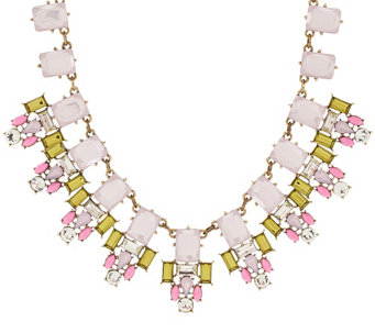 "Joan Rivers Crystal Geometry 18"" Statement Necklace - J318968"