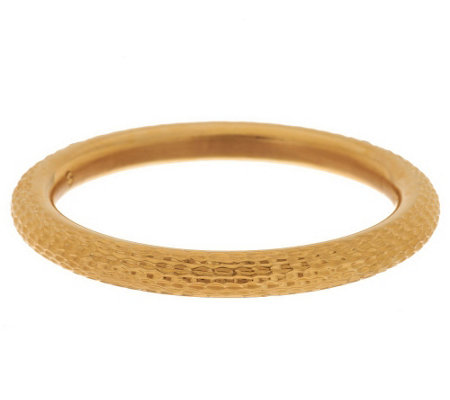 """As Is"" Oro Nuovo Average Textured Diamond Cut Bangle 14K Gold"