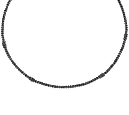"Judith Ripka Sterling 18"" Textured Collar Necklace"