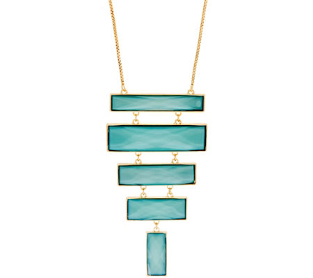 Susan Graver Tiered Long Pendant Necklace