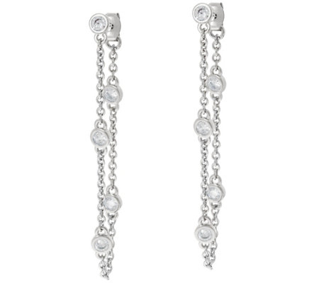 The Elizabeth Taylor Simulated Diamond Station Earrings