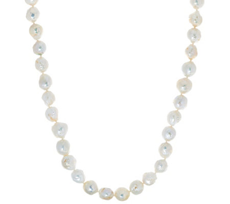 "Honora White Ming Cultured Pearl 30"" Sterling Necklace"