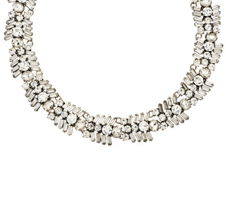 """As Is"" Joan Rivers Crystal Baguette 18"" Collar Necklace"