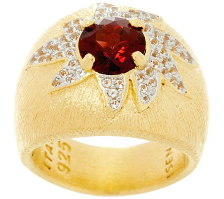 """As Is"" Genesi 18K Clad Gemstone Cocktail Ring"