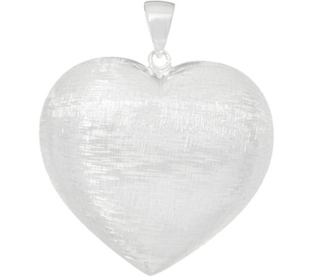 UltraFine Silver Reversible Heart Pendant 8.8g