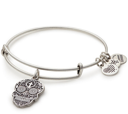 Alex and Ani Calavera Charm Bangle