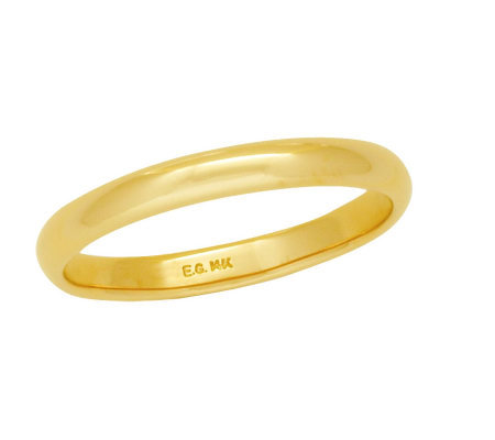 EternaGold 3MM Polished Silk Fit(R) Band Ring,14K Gold