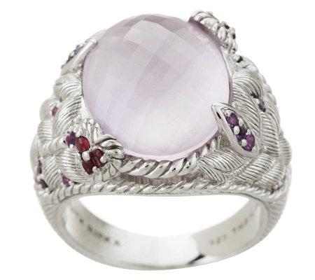 Judith Ripka Sterling Amethyst Butterfly Cocktail Ring