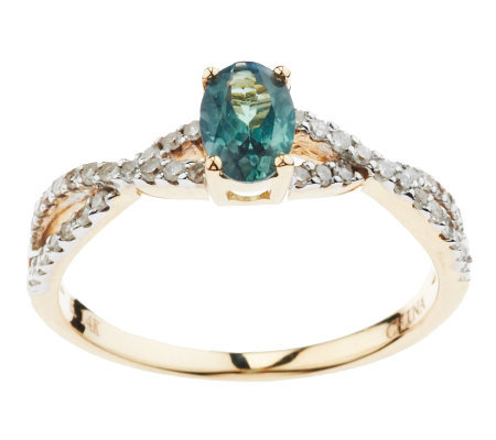 0.30 ct Alexandrite & 1/5 ct tw Diamond Ring, 14K