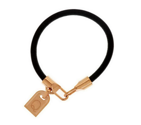 """As Is"" Bronzo Italia Rose Bronze Initial Tag Bracelet"