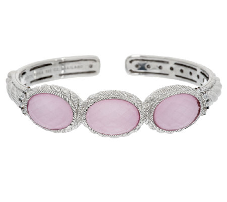 Judith Ripka Sterling Gemstone Doublet and Diamonique Cuff