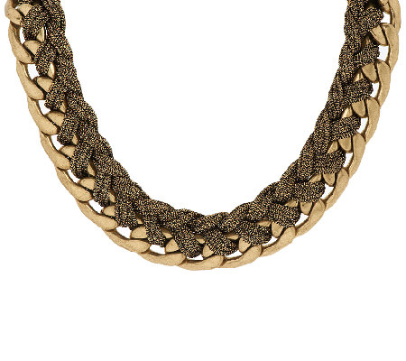 "Joan Rivers City Glamour Chain Necklace w/ 3"" Extender"