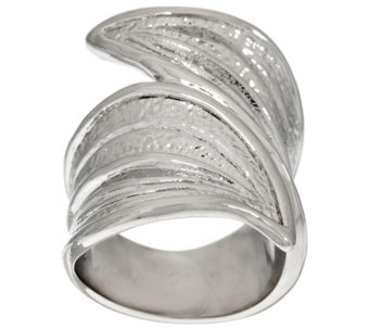 Stainless Steel Leaf Design Wrap Ring - J296669