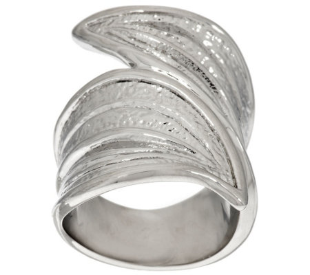 Stainless Steel Leaf Design Wrap Ring