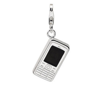 Amore La Vita Sterling Dimensional Cell PhoneCharm - J299769