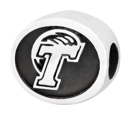 Sterling Silver Tulane University Bead