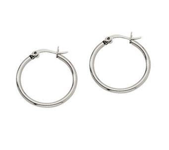 "Stainless Steel 3/4"" Hoop Earrings - J302169"