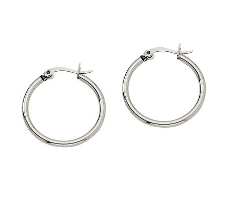 "Stainless Steel 3/4"" Hoop Earrings"