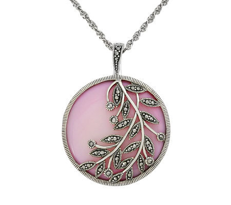 Suspicion Sterling Pink Mother-of-Pearl Enhancer with Chain