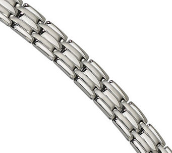 "Forza 8"" Brushed and Polished Bracelet - J304569"
