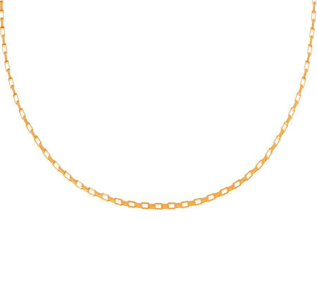 Veronese 18K Clad 18&quot Polished Rectangular LinkChain