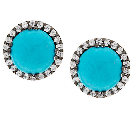 """As Is"" Graziela Gems Sleeping Beauty Turquoise Stud Earrings"