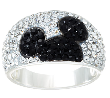 Disney Pave Crystal Hidden Mickey Band Ring Page 1