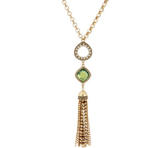 Joan Rivers Multi-Link Chain Necklace with Tassel - J327369