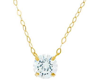 Diamonique 1 ct tw. Necklace 14K Gold - J332269