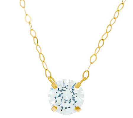 Diamonique 1 ct tw. Necklace 14K Gold