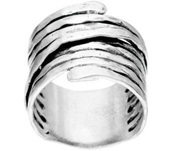 Sterling Silver Bold Wire Wrapped Ring by Or Paz - J333069