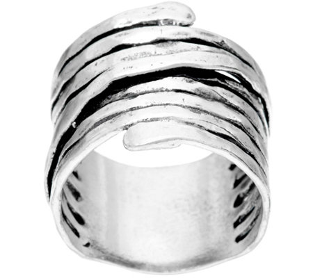 Sterling Silver Bold Wire Wrapped Ring by Or Paz