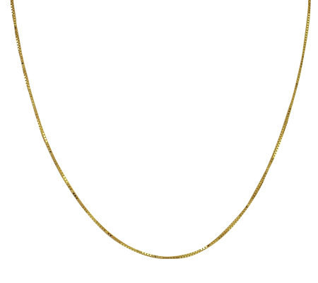 "EternaGold 26"" 063 Solid Box Chain Necklace, 14K Gold, 3.8g"
