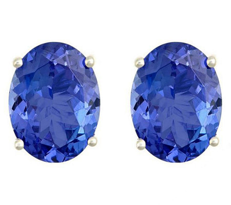 Premier 2.00 cttw Oval Tanzanite Stud Earrings,14K