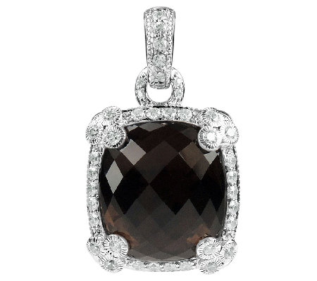 Judith Ripka Sterling Smoky Quartz Enhancer